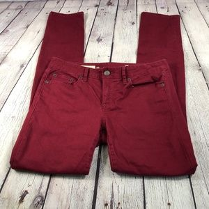 Gap Always Skinny Garnet Colored Jeans Sz 26